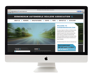 Birmingham Auto Dealers Association Website Design