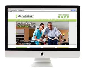 Rehab Select Website Design