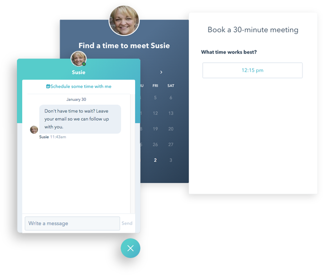 Website Chat & Meeting Scheduling