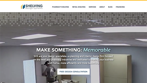 Shelving Design Systems Website