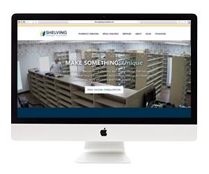 Shelving Design Systems Website Design