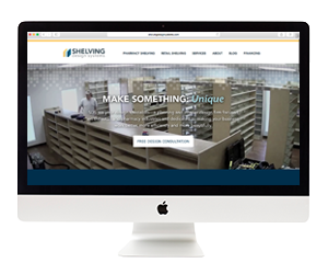 Shelving Design Systems Website Design