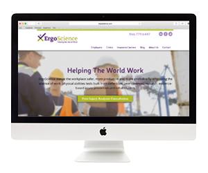 ErgoScience Website Design