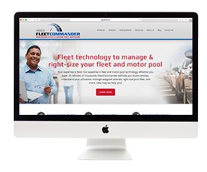 Agile FleetCommander Website Template Design