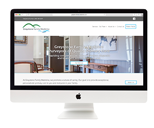 Greystone Family Medicine Website Template Design