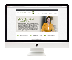 Elizabeth Roland Law Firm Website Template Design