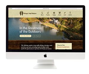Wings & Water Website Design