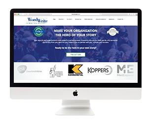 WordWrite PR Website Template Design